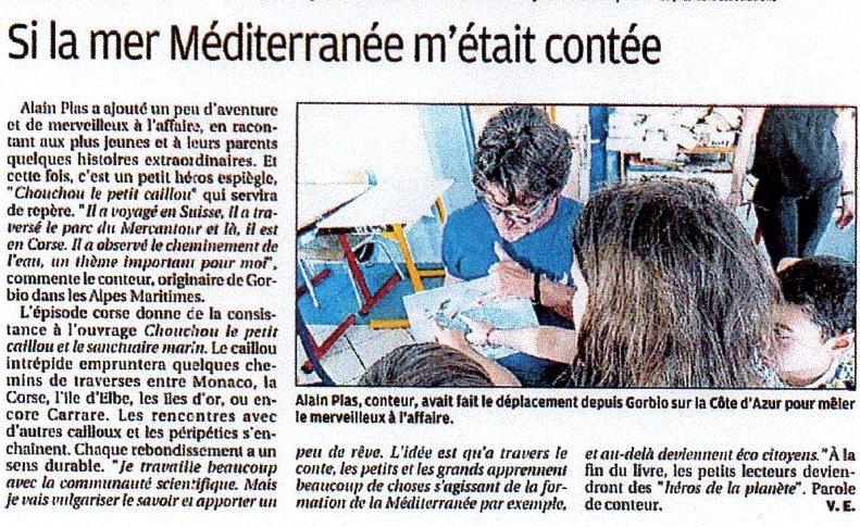 article chouchou sanctuaire marin corse matin juin 2018